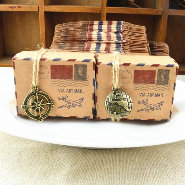 25 Stucke Stempel Design Kraftpapier Sussigkeitskasten Schokolade