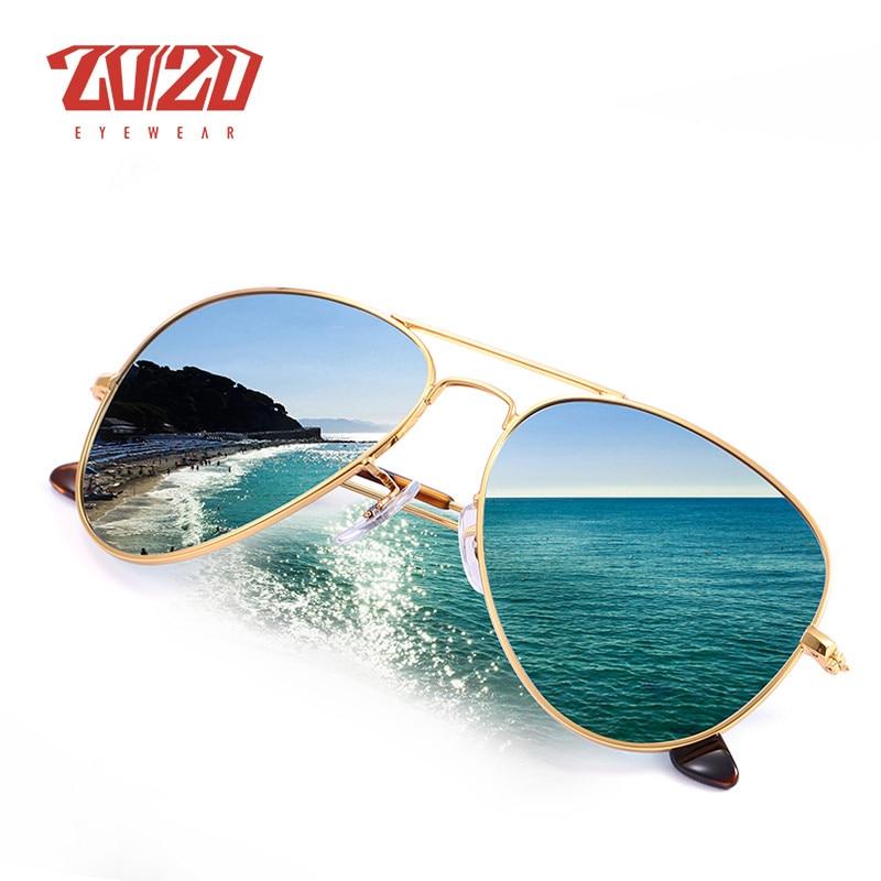 2019 Mode 20/20 Marke Design Pilot Polarisierte Sonnenbrille Männer Frauen Metall Rahmen Männlichen Sonnenbrille Unisex Brillen Gafas De Sol 17019 Farben Sind AuffäLlig Herren-brillen