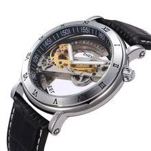 Marque de luxe 2 Couleurs Squelette Design du Cadran Mécanique Automatique Montre-Bracelet Hommes Femmes Unisexe En Cuir Hommes de Robe Montres W15760