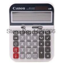 1 Piece Genuine Canon WS-1212H financial business calculator Solar dual power desktop calculator