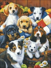cross Puppy beads Family