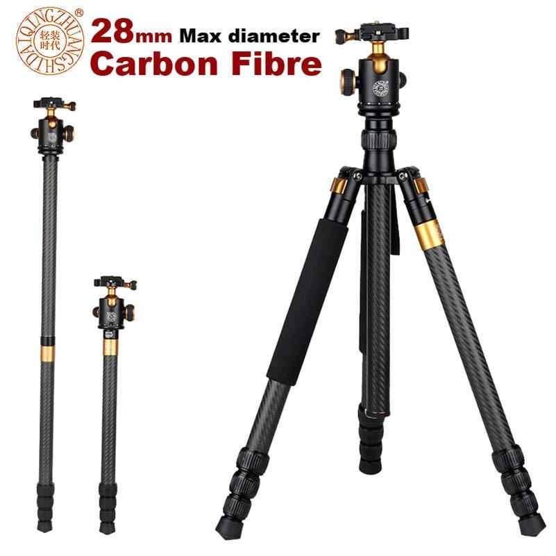 QZSD Q1088C 65 inch Carbon Fiber Professional DSLR font b Camera b font font b Tripod