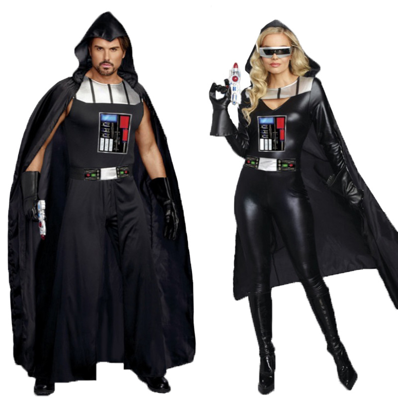 2017 Hot Sale Halloween Adult Cosplay Costumes Darth Vader Costume Men Darth Vader Costume Women Carnival Party Costumes женский костюм дарта вейдера