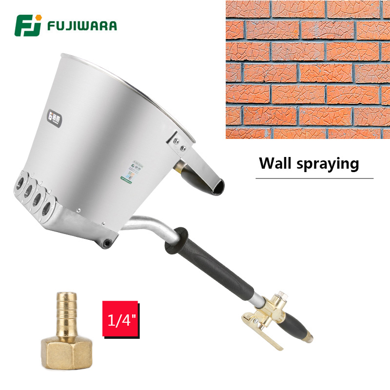 FUJIWARA 3.5L Pneumatic Cement Mortar Spray Gun Wall Rapid Blasting Mortar Cement Wall Machine Wall A cement