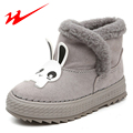 DOUBLE STAR Children Shoes Cartoon Kids Shoes In Winter Velcro Walk Shoes Pink Kids Sneakers Warm Snow Boots Outdoor Girl Shoes