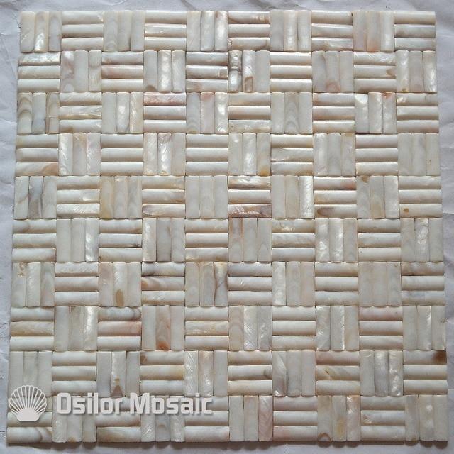 Konvexen 100% Natürliche Chinesische Süßwasser Shell Nahtlose Perlmutt  Mosaik Fliesen Für Badezimmer Dekoration Wandfliese