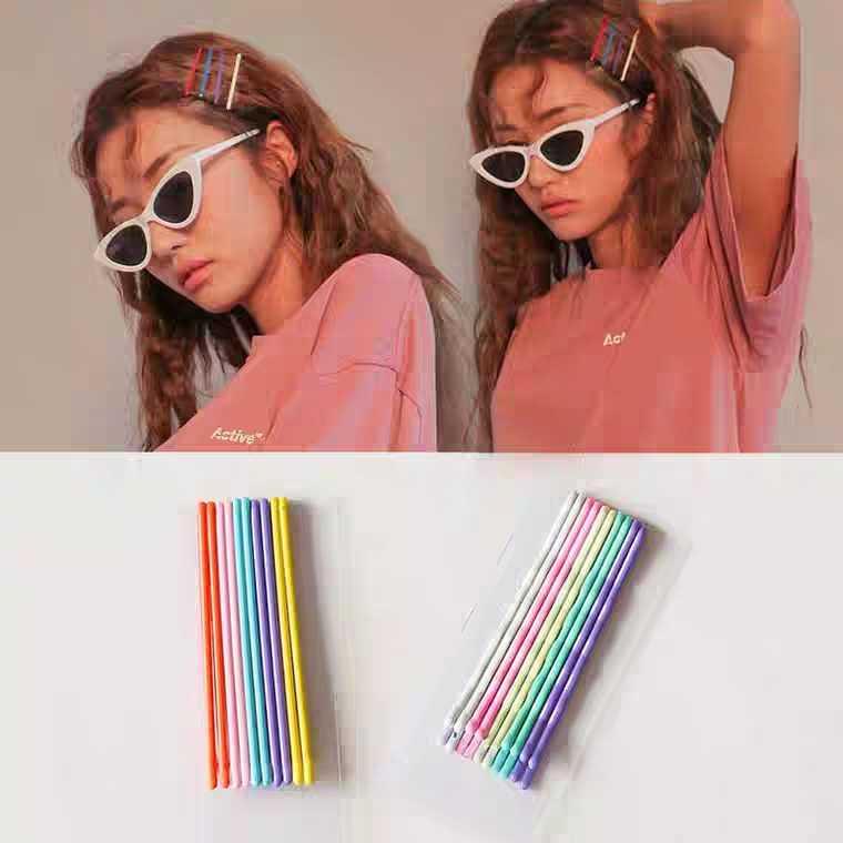 10 шт./компл. Красочные заколки для волос для женщин заколки для волос женские невидимки волнистые заколки для волос аксессуары