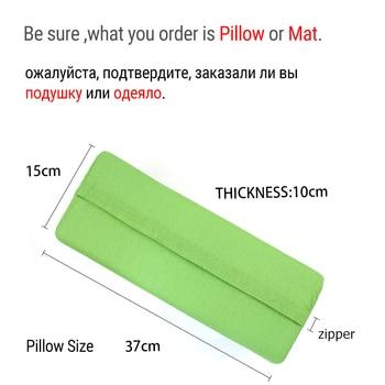 (Mat/Pillow 2 choice) Fitness Yoga Spike Mat Lotus Acupuncture Massage Mat Bed Pilates Yoga Massager Cushion Relieve Stress Pain 1