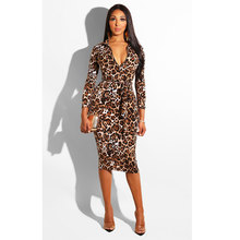Fashion Plaid Printing With Zip In Front Sexy Bodycon Dress Leopard grain Party Dresses недорого