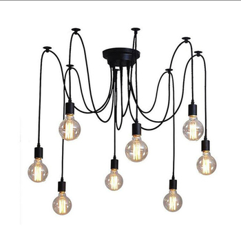 E27 Creative DIY Pendant Lights Iron Droplight Art Spider Suspension Lamp Luminaire 110V 220V Deco Loft Lighting Light Fixtures цена 2017