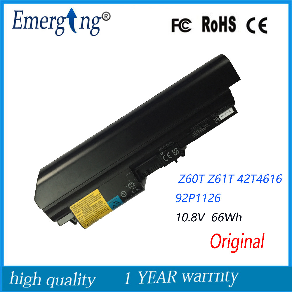 10.8v 66Wh New Original Laptop Battery for lenovo IBM thinkpad Z60T Z61T 42T4616 92P1126 92P1125 relogio pmw211