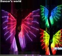 СВЕТОДИОДНЫЙ Костюмы живота светодиодный крылья этап Производительность Для женщин танцевальная одежда светодиодный бабочки ISIS танец жив