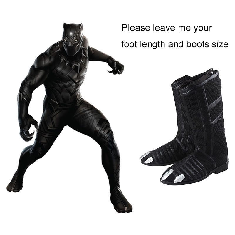 Captain America Black Panther Boots Civil War T Challa Shoes Cosplay Costume Accessory Adult Men Cosplay