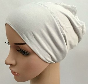 Image 3 - מודאלי כותנה רגיל מוצק צבע פנימי כובע תחבושת מוסלמי underscarfs חיג אב