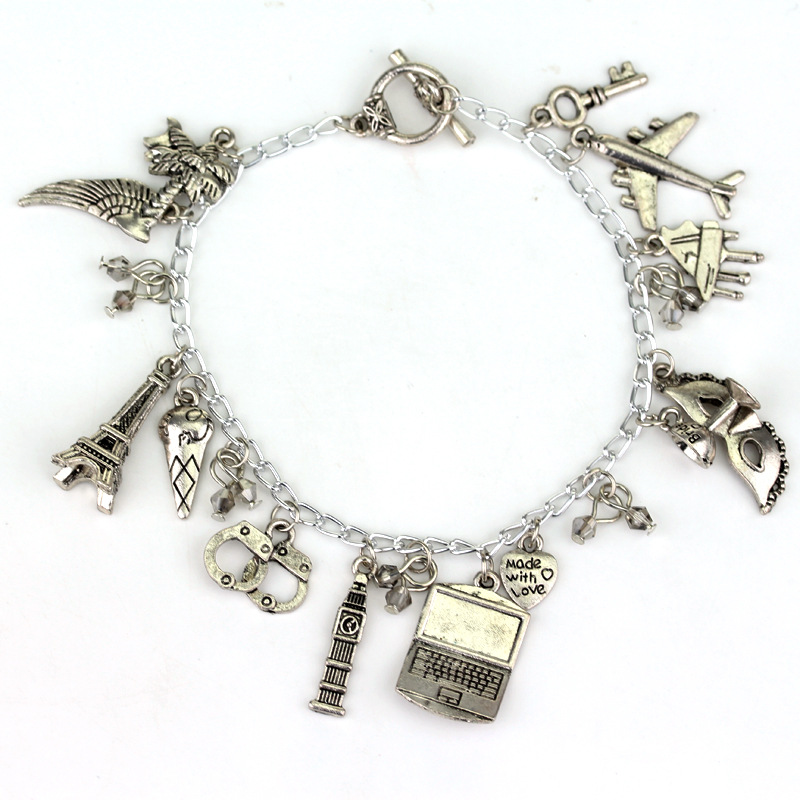 Hot Sale Fifty Shades of Grey charm Bracelet