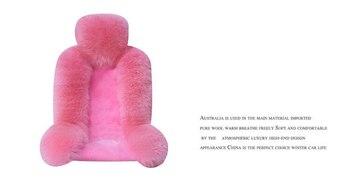 100% Australischen Reiner Natürliche Pelz Sitz Abdeckung, Schaffell Winter Auto Kissen Vorne Fahrzeug Sitz Abdeckung 1 Paar
