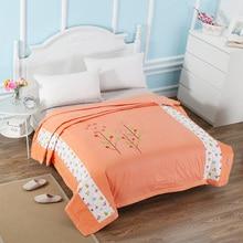 Новый мультфильм тонкий хлопок одеяло для взрослых летом одеяло одеяло luxury утешитель товары для дома постельное белье мультфильм стеганые лист orange