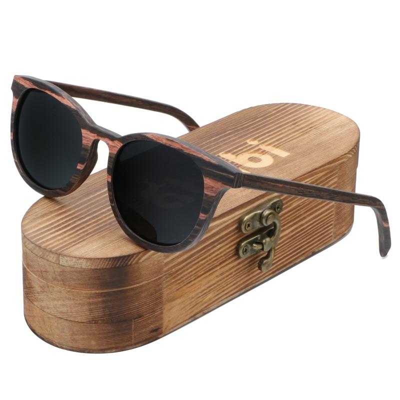 Ablibi Men's Real Ebony Wooden Sunglasses Women Vintage Luxulry Brand Designer  Polarized Sun Glasses Oculos De Sol Feminina