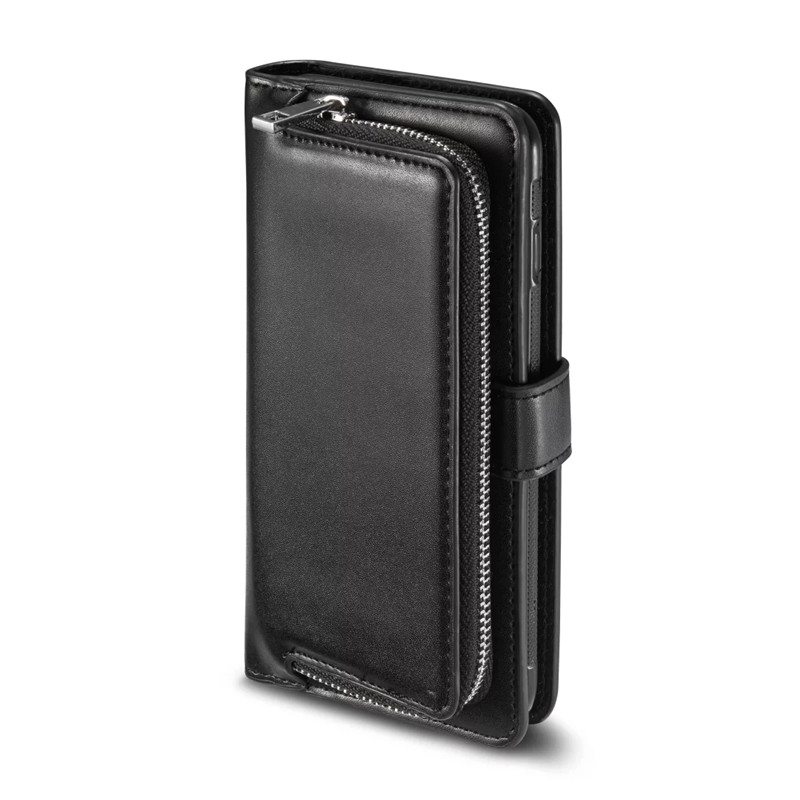 Luxury PU Leather Wallet Case cover For Samsung S8 plus Cellphone Pocket Gifts Clutch Wrist Bag for galaxy S8 zipper Handy Bags