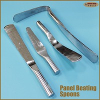 Panel beating tools bodywork metal forming hammers dollies auto dent removal car repair workshop garage spoon finger flat prybar