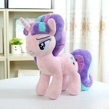 Мой милый маленький хлопок Дружба это волшебное аниме домашнее животное мягкие плюшевые игрушки кукла животное Единорог животное лошадь звездный свет проблеск