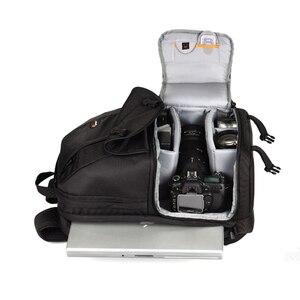 """Image 3 - Venda quente genuíno lowepro fastpack 250 fp250 slr câmera digital bolsa de ombro 15.4 """"polegadas portátil com todos os tempos capa chuva"""