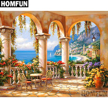HOMFUN Full Square/Round Drill 5D DIY Diamond Painting Seaside scenery Embroidery Cross Stitch 5D Home Decor Gift A06746 homfun full square round drill 5d diy diamond painting deer scenery embroidery cross stitch 5d home decor gift a18124