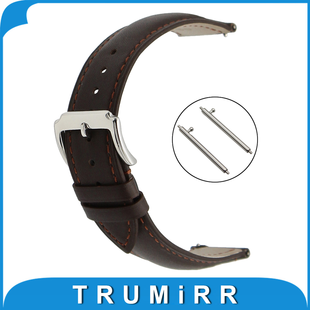18mm 20mm First Layer Genuine Leather Watch Band Quick Release Strap for DW Daniel Wellington Wrist Belt Bracelet Black Brown 18mm first layer genuine leather watch band quick release strap for asus zenwatch 2 women wi502q wrist belt bracelet black brown