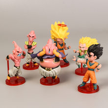 Estilo Dragon Ball Majin Buu Gohan Goku Frieza 6 Explosão Action Figure Collectible Modelo Toy Decoração DO PVC(China)