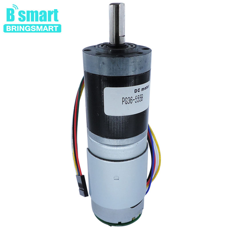 Bringsmart DC 12v 24v PG36-555B Mini Planetary Gear Encoder Reducer Motor 40rpm Small DC Encoding Motor 80rpm Large TorqueBringsmart DC 12v 24v PG36-555B Mini Planetary Gear Encoder Reducer Motor 40rpm Small DC Encoding Motor 80rpm Large Torque