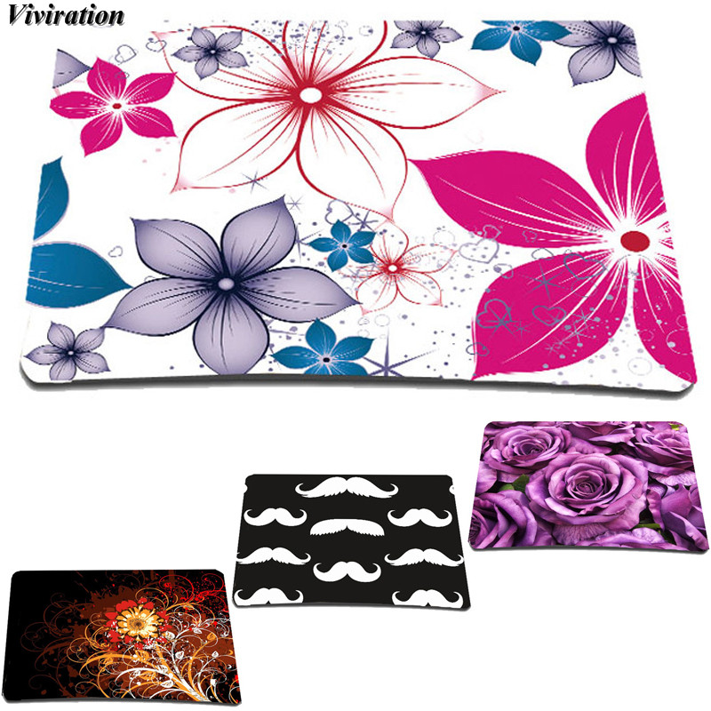 2018 New Arrival Fashion Flowers Printing Mouse Mat Viviration Women Rubber Anti-slip Computer Mouse Pad Soft Gaming Mouse Pad