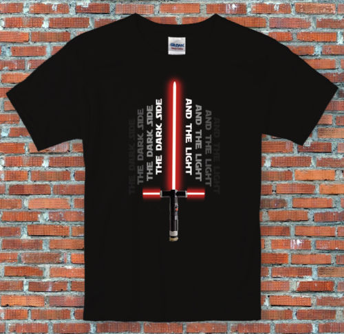 Star Wars Kylo Ren Lightsaber Dark Side and the Light 7 Inspired T Shirt Casual Short Sleeve Shirt Tee