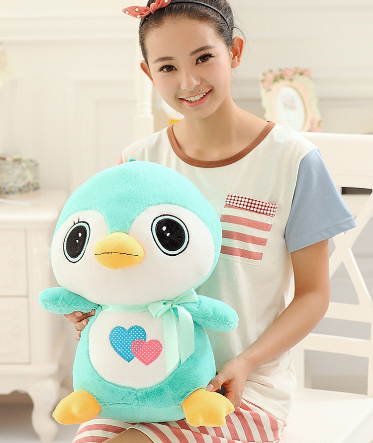 stuffed toy large 50cm cartoon penguin plush toy soft throw pillow birthday gift b1313 large 140cm cartoon madagascar giraffe plush toy throw pillow surprised birthday gift b4981