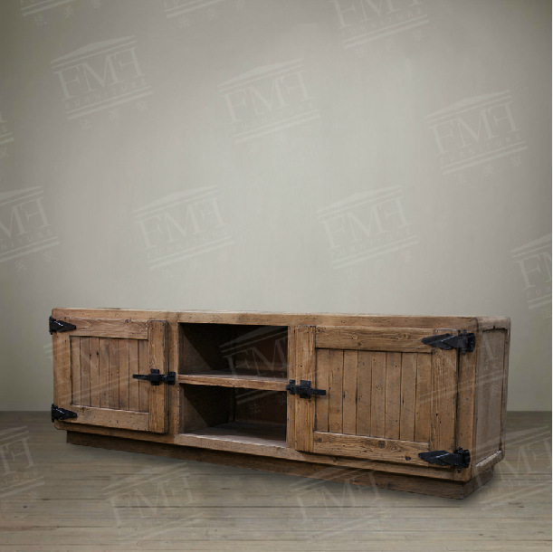 American French European Country Red Pine Furniture Simple Tv Stand Bench Creative Cabinet