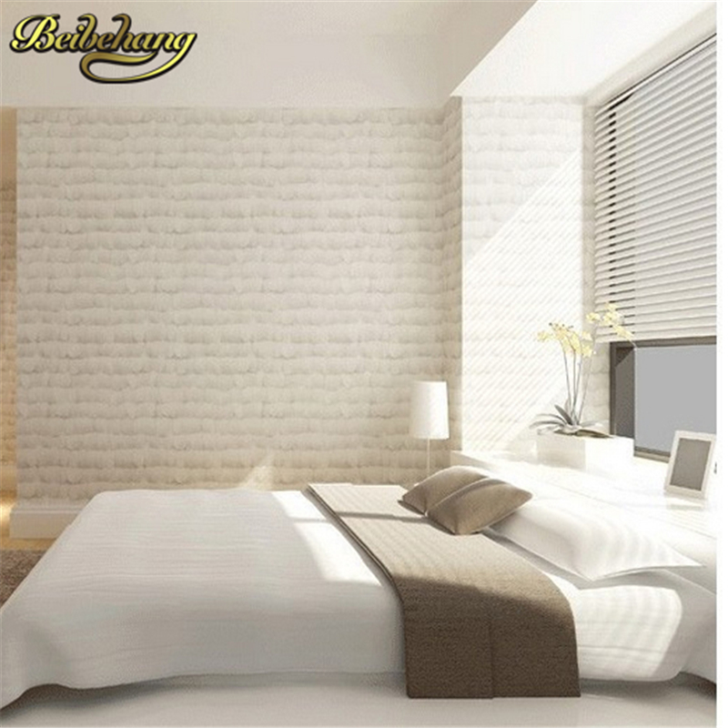 beibehang Home Decoration 3D wall paper Modern Feather Pattern Non-Woven Wallpaper Wall Paper Roll for Background Living room beibehang non woven wallpaper rolls pink love stripes printed wall paper design for little girls room minimalist home decoration