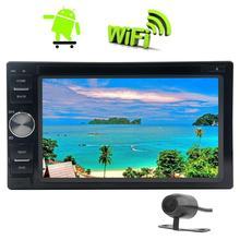 2Din Car Auto Radio Video GPS Navigator Car Deck Head Unit Android6.0 Marshmallow Stereo support Wifi Mirrorlink HD 1080P+Camera