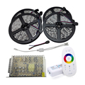 20M SMD 3528 5050 Flexible LED RGB Strip 60LEDs/M IP20 Non Waterproof LED RGB Tape Light 2.4G Touch Controller 12V Power Supply
