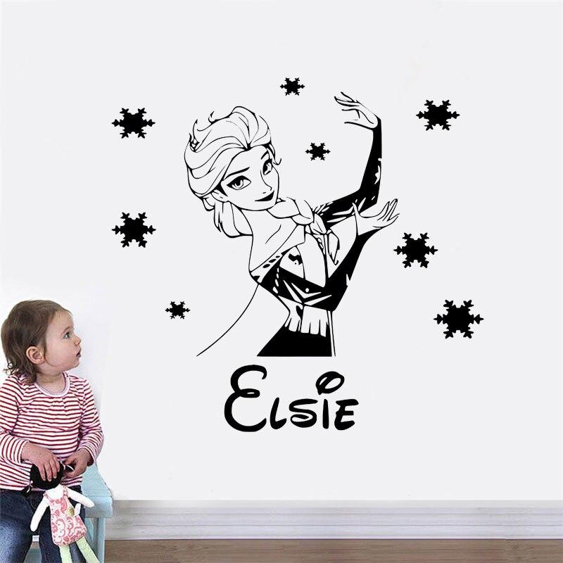 Let it snow Frozen childrens bedroom Wall Art Vinyl Sticker Decal//Disney!!