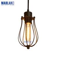 E27 Retro Eisenkäfig Pendelleuchte Vintage Edison-birne Pendelleuchte Home Licht Loft Aisle Schlafzimmer Hängen Led-lampen (D50992)