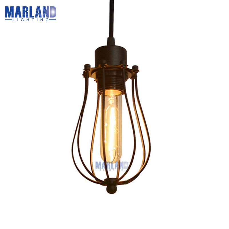 E27 Retro Iron Cage Pendant Lamp Vintage Edison Bulb Pendant Light Home Light Loft Aisle Bedroom Hanging LED Lamps(D50992) vintage iron pendant light loft retro droplight bar cafe bedroom restaurant metal cage ith led bulb hanging lamp ac110v 220v e27