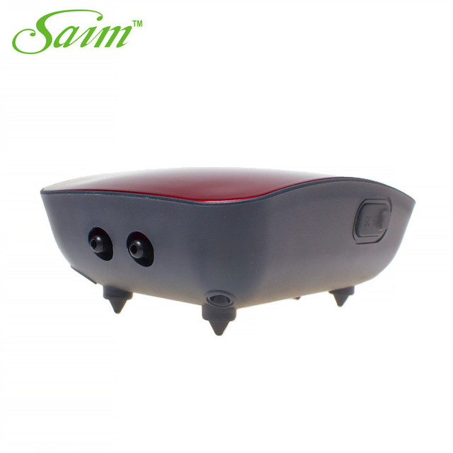 Saim 2017 Lithium Battery AC/DC Waterproof Air Pump For Aquarium Ultra Silent Fish Tank Increase Oxygen Pump 2 outlets H3 H5