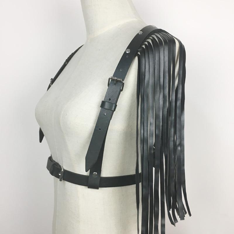 57a67c89b2b Dark Rock street Tassel leather Waist belt Straps Adjustable Buckle Belt  garter belt leather suspenders for Women-in Women s Belts from Apparel  Accessories ...