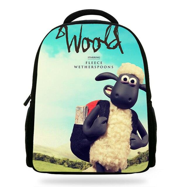 fd45eace17 14Inch Cartoon Shaun the Sheep Movie Softback School Backpack Set For  Children Daily Bag For Kids Boys Girls