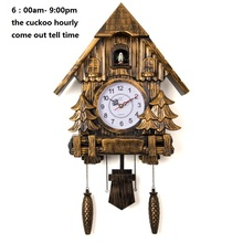 Cuckoo Clock Fashion Living Room Wall call Day Time Only 20inch Alarm Quality Swing Wartch Modern Battery