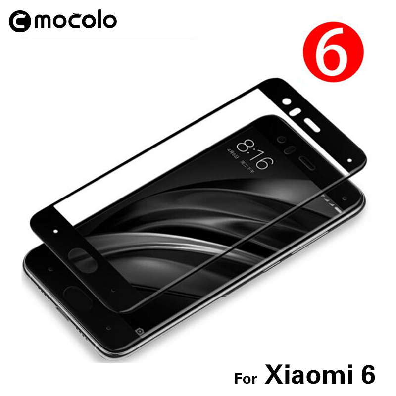Mocolo Tempered glass για Xiaomi mi 6 mi 6 m6 full Screen Protector 9H Protective Film full cover for Xiaomi 9 mi 6 mi 6 glass