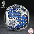 925 siga as estrelas de prata esterlina charme fit pandora original pulseira com limpar cubic zirconia midnight blue crystal ps072