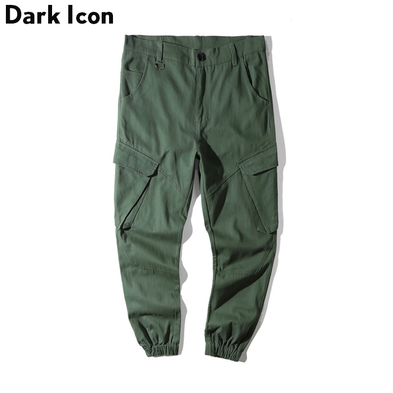 DARKICON Side Pockets Cargo Pants Men Camouflage Men's ...