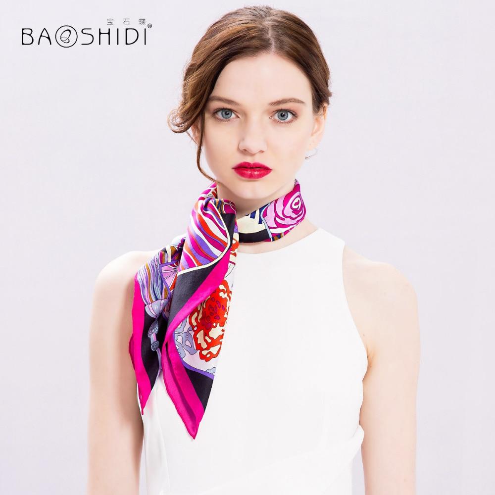 Aliexpress Com Buy Baoshidi 100 Silk Scarf Women Mini