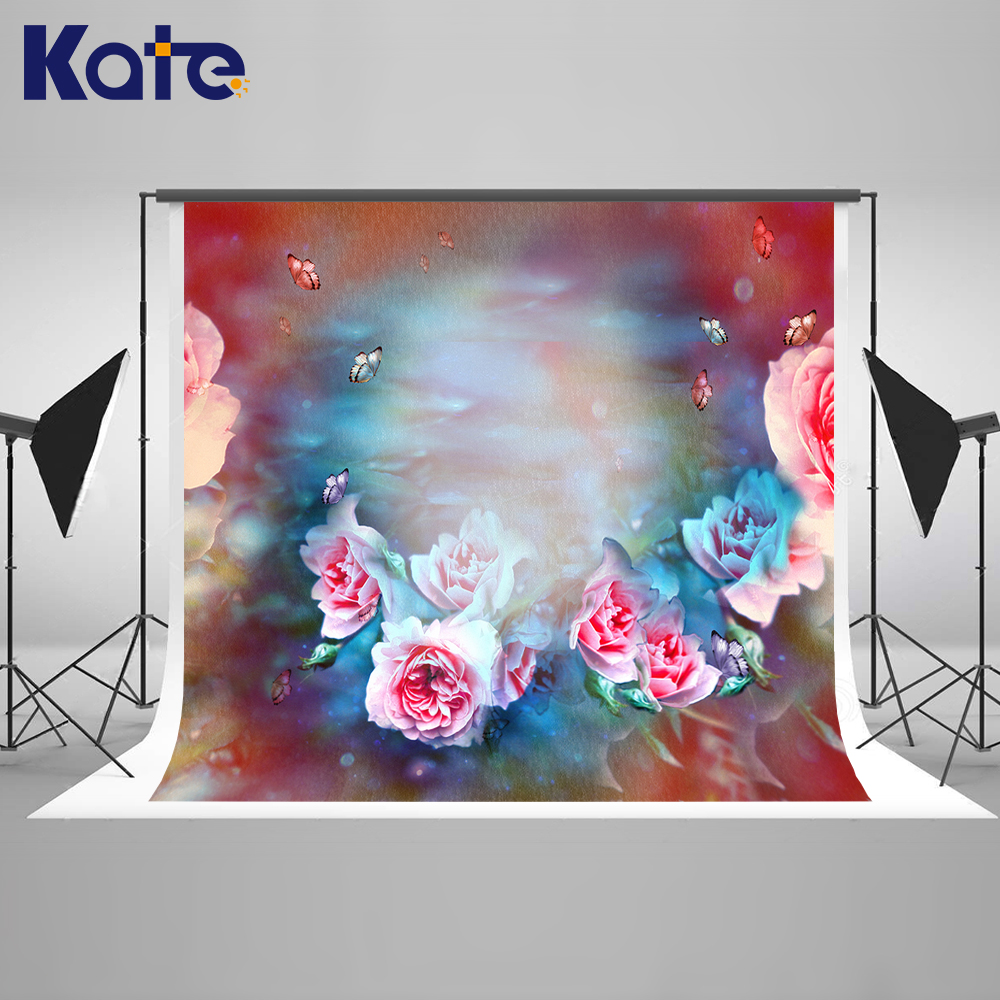 Kate Oil Painting Style Backdrops Flower Wall Background Spring Photography Backdrops Romantic Wedding Photography Backdrops