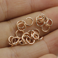 ФОТО 5mm 6mm golden rose gold stainless steel single lap jump ring connectors for jewelry making diy hand made hook pendant